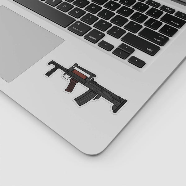 PUBG - Groza Illustration Sticker; Gaming Stickers