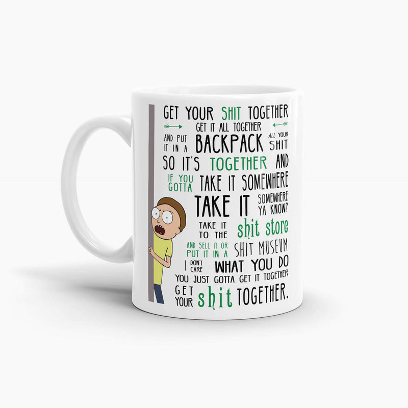 Rick and Morty - Get Your Shit Together Coffee Mug; Premium Pop Culture Drinkware
