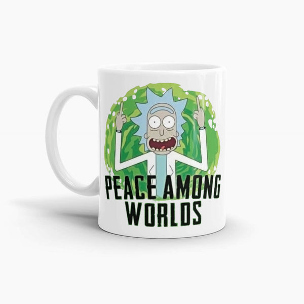 Rick and Morty - Peace Among Worlds Coffee Mug; Pop Culture Drinkware