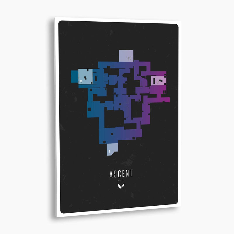 Valorant Ascent Map Poster; Gaming Poster