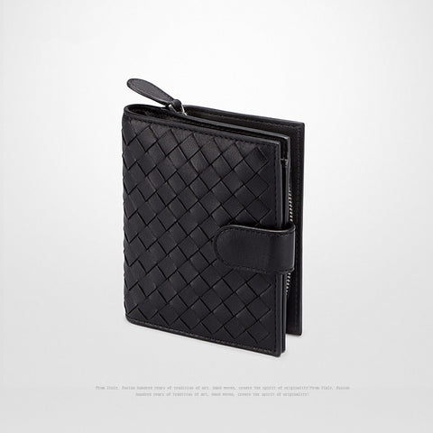Leather Clip-On Wallet with Zip-Around Change Pocket