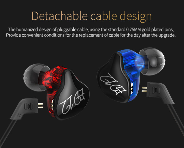 ED12 Running Sport Earphone Noise Cancelling HIFI Earphone With Detachable Cable