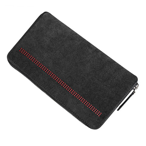 Italian Suede Leather Tri-Fold Wallet