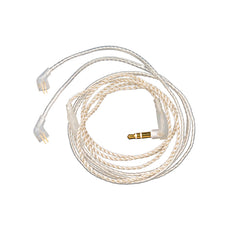 0.75mm 2 pin Upgrade Silver Plate Replacement Earphones Cable with Gold Plated Jack for ZST/ZSR/ES3/ED12 Headphones