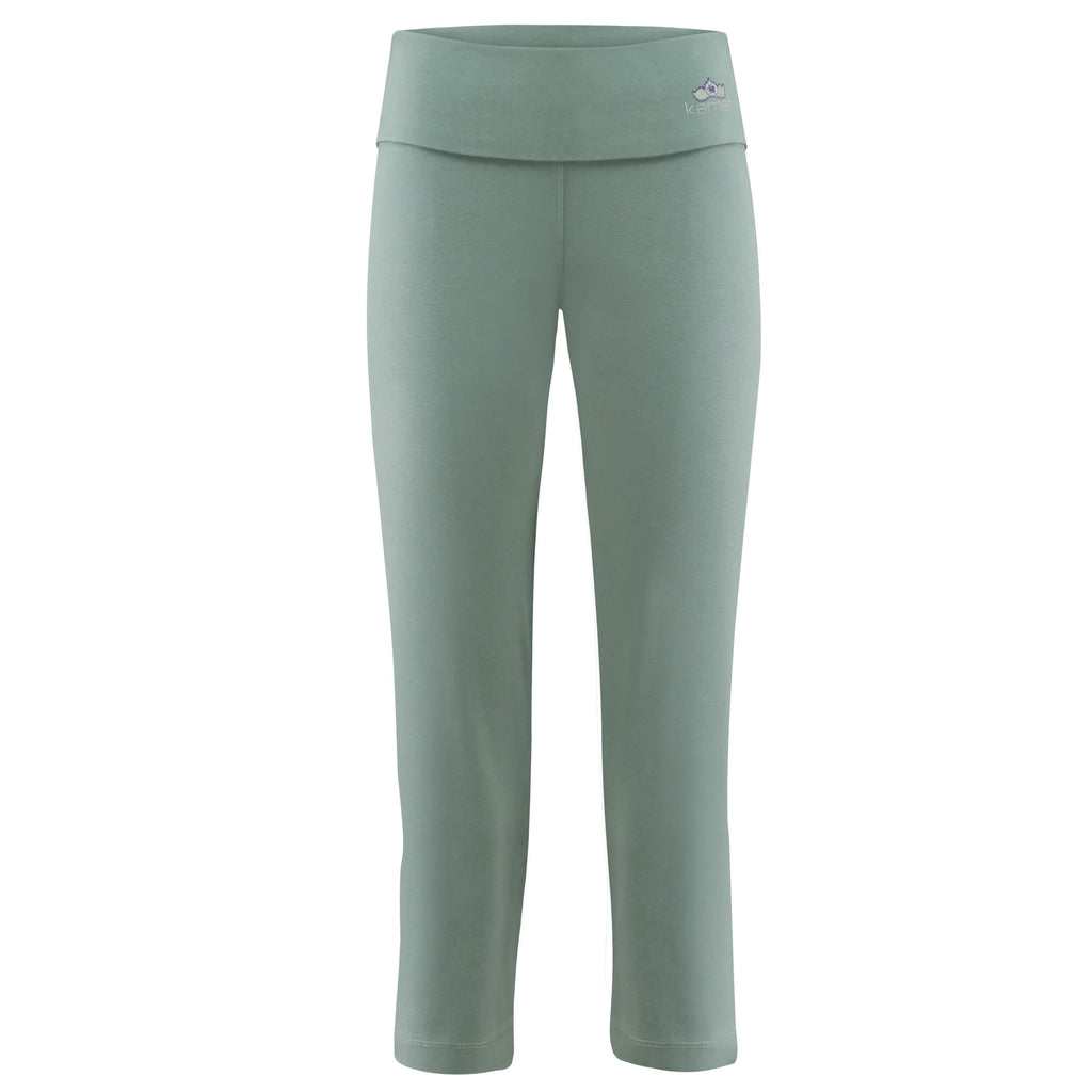 "Yoga-Leggings ""Anastacia"", nightgreen - Capri Leggings mit Umschlagbund - PS - Kamah Yoga and Style"
