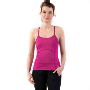 "Yoga-Top ""Prisca"", fuchsia - Superactive Top aus recycletem Funktionsmaterial"