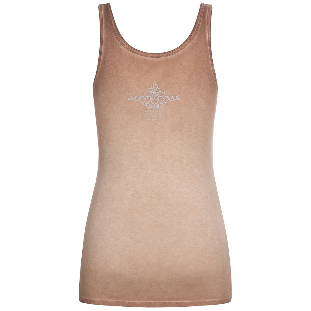 "Yoga-Top ""Erin"", nougat - Supersoftes Basic Tanktop - Kamah Yoga and Style"