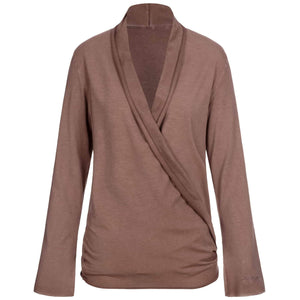 """Tootsie"" jacket, nougat - super soft wrap jacket - Kamah Yoga and Style"
