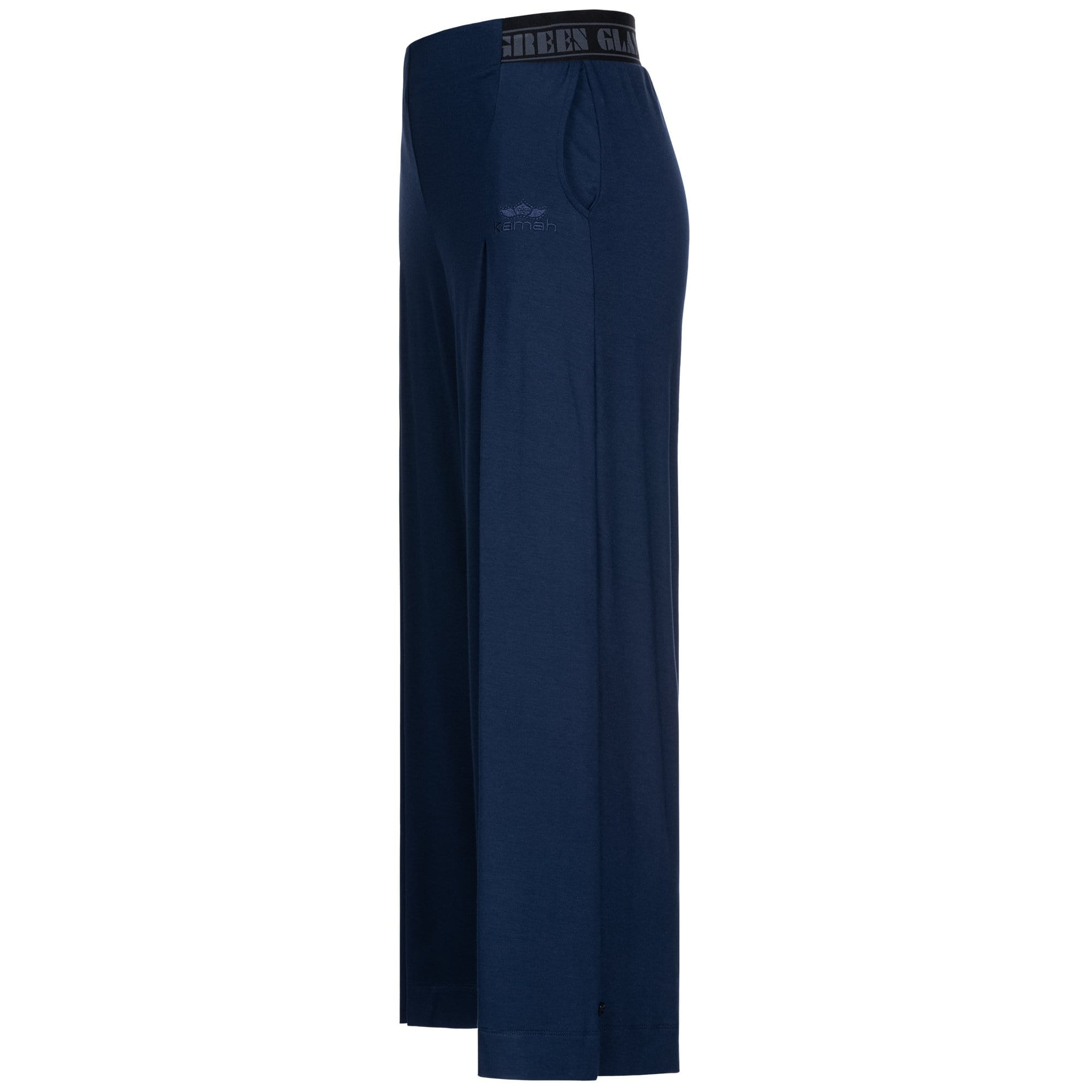 "Culotte pants ""Wanda"", nightblue - variable 3/4 Yoga-Pant - Kamah Yoga and Style"