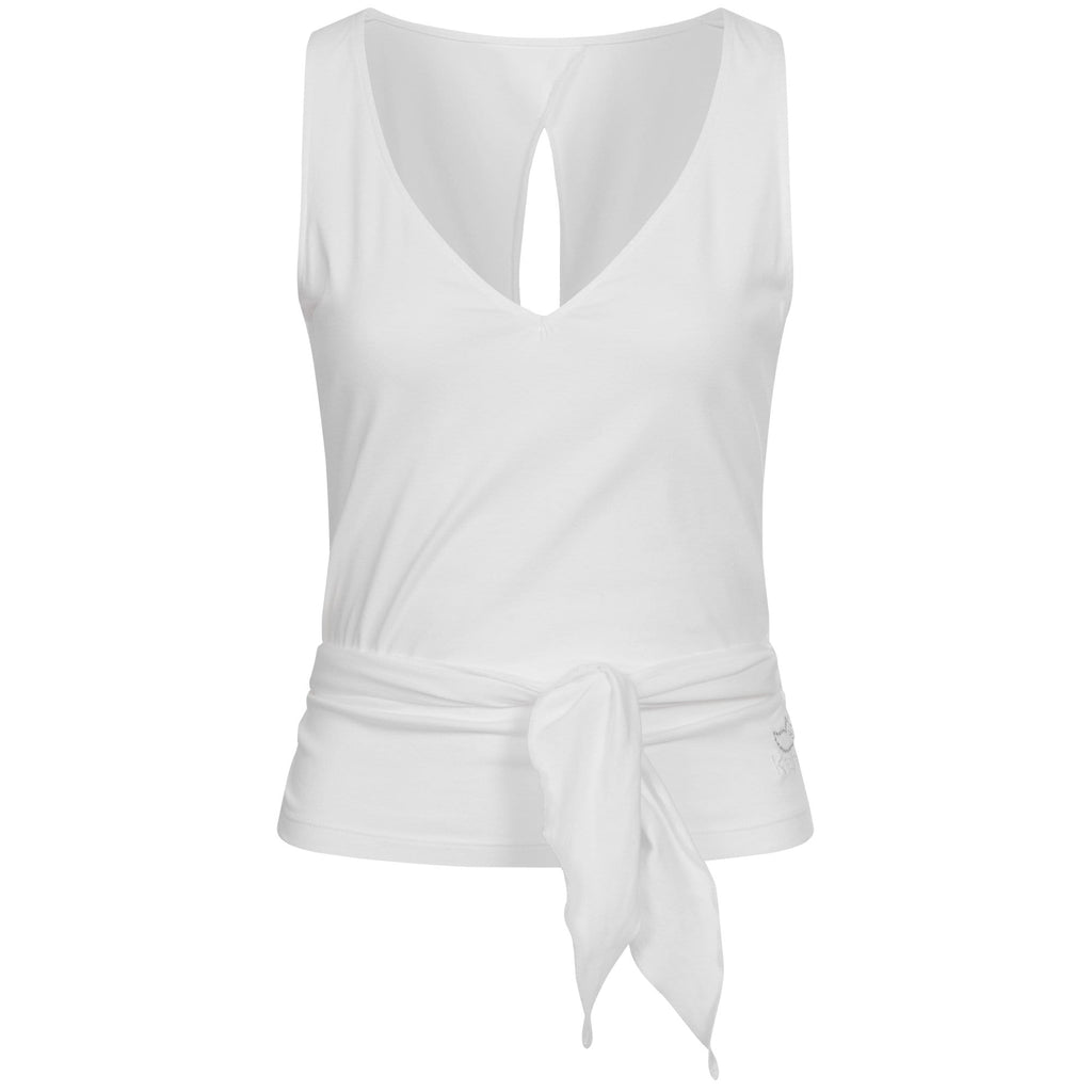 "Yoga-Wraptop ""Wendy"", white - Supersoftes Wickeltop - Kamah Yoga and Style"