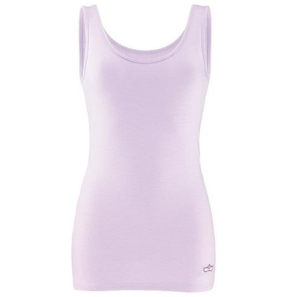 "Yoga Top ""Erin"", pale violet - Supersoftes Basic Tanktop - Front"