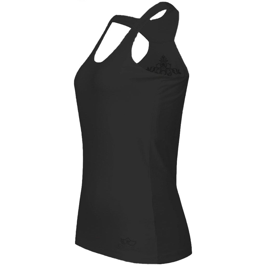 "Yoga-Top ""FINA"", charcoal - Superweiches Active-Top aus Bambusviskose - Kamah Yoga and Style"