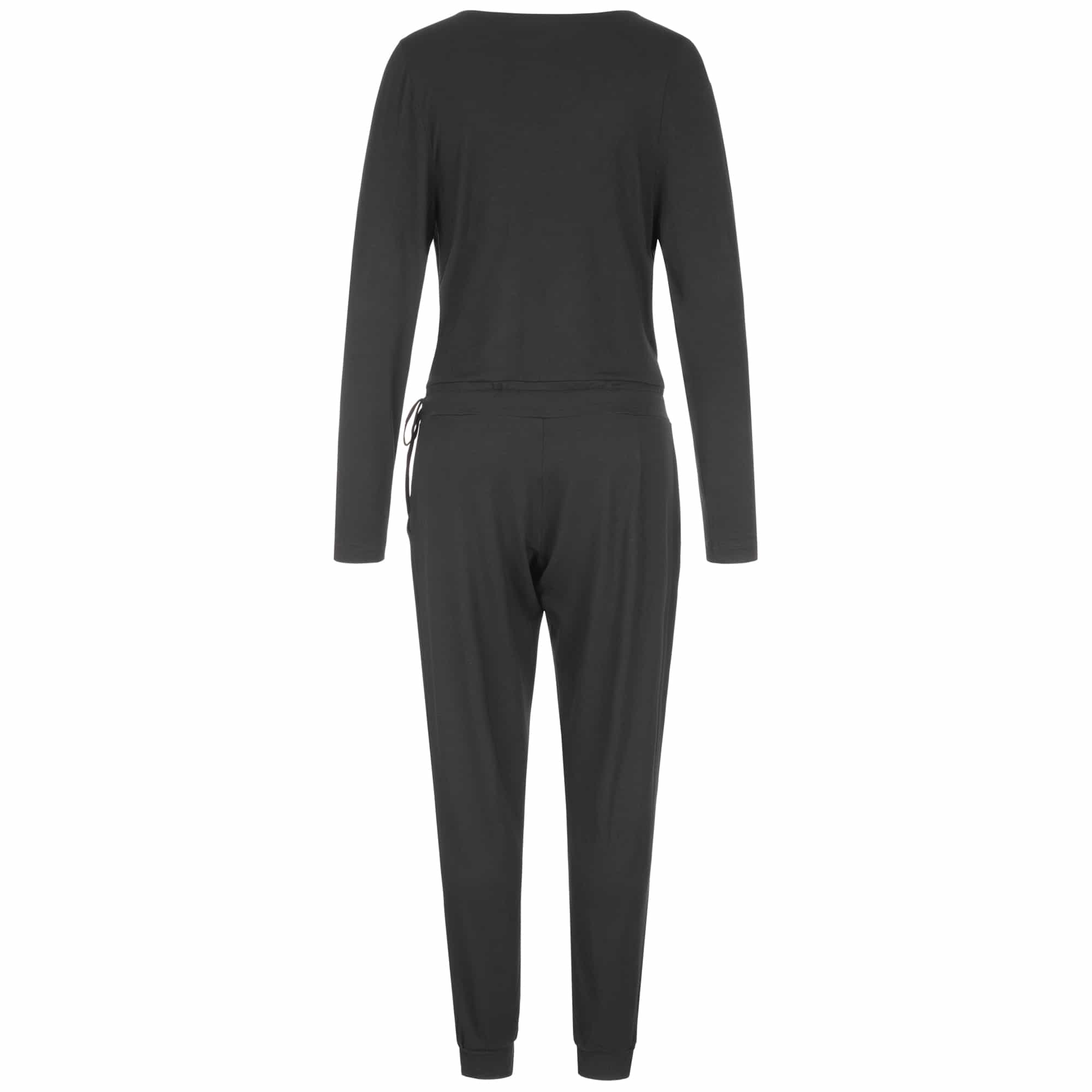 "Yoga Jumpsuit ""Kali"", charcoal - Supersoft long sleeve jumpsuit"