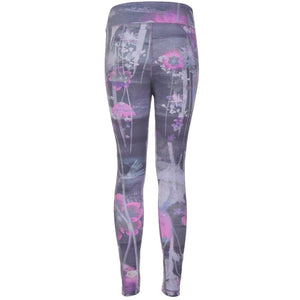 "Yoga Legging ""Panarea"", Mystique - Figurbetonte Active Tights mit Allover Print - Kamah Yoga and Style"