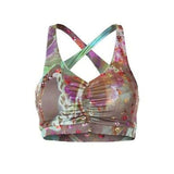 "MILA -  Bra-Top mit Innen Bra, Farbe: Allover Print ""City Bloom"" - Kamah Yoga and Style"