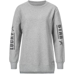 "Sweater ""Tiffany"", grey-long ""Kuscheliges oversized Sweatshirt"" Kamah Yoga and Style"