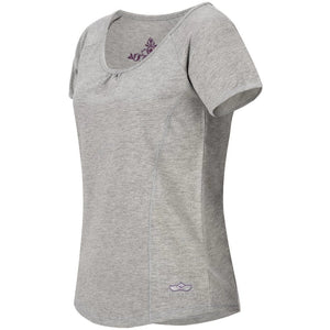 "Yoga-Shirt ""VIOLA"",  greymelange - Supersoftes T-Shirt mit Formnähten - Kamah Yoga and Style"