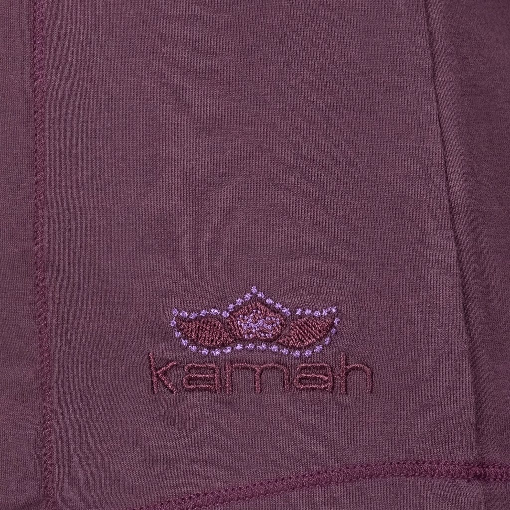 "Yoga-Shirt ""VIOLA"",  red purple - Supersoftes T-Shirt mit Formnähten - Kamah Yoga and Style"
