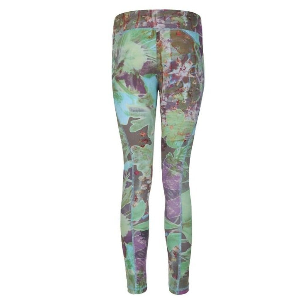 "Yoga-Leggings ""Panarea"", City Bloom - Figurbetonte Active Tights mit Allover Print - Kamah Yoga and Style"