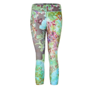 "Yoga Leggings ""Paris"", City Bloom - Stylish Capri Pants with Allover Print"