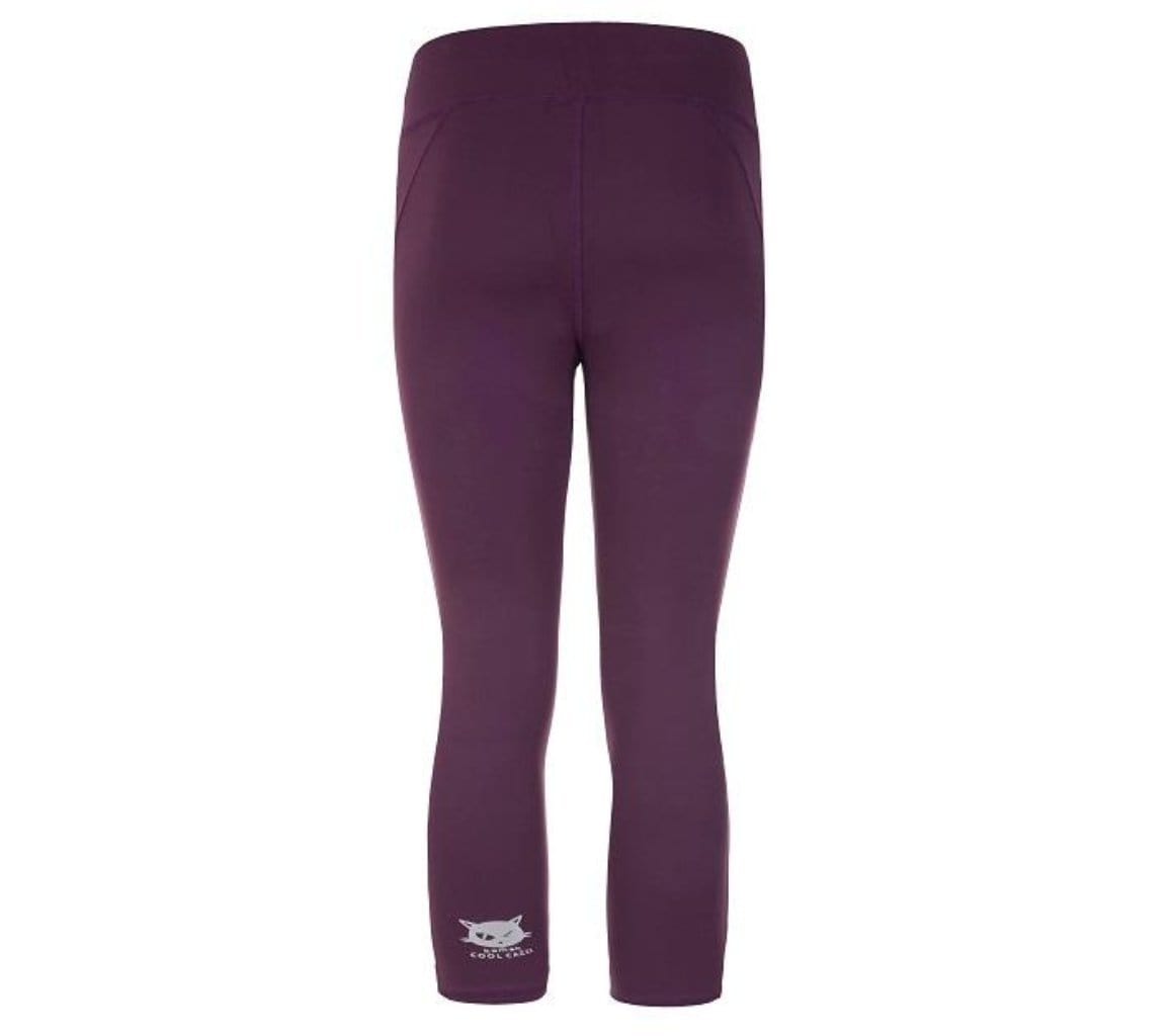 "Yoga Legging ""Polly"", red purple - Superactive Capri Leggings - Kamah Yoga and Style"