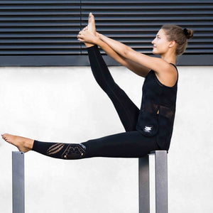 "Yoga Legging ""Safira"", black - Figurformende Active Leggings - Kamah Yoga and Style  Alternativen Text bearbeiten"