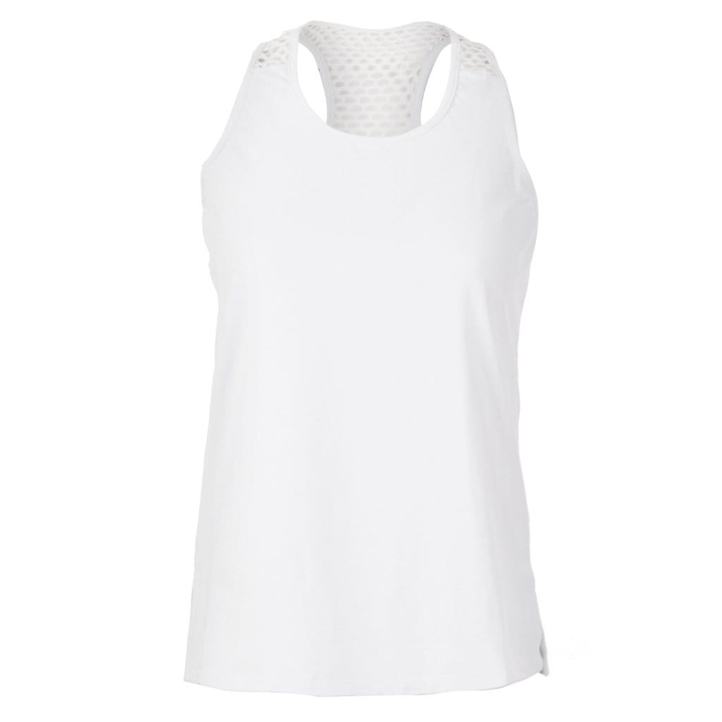 "Yoga-Top ""Sumati"", white - Superactive Tanktop mit Mesh-Einsatz - Kamah Yoga and Style"
