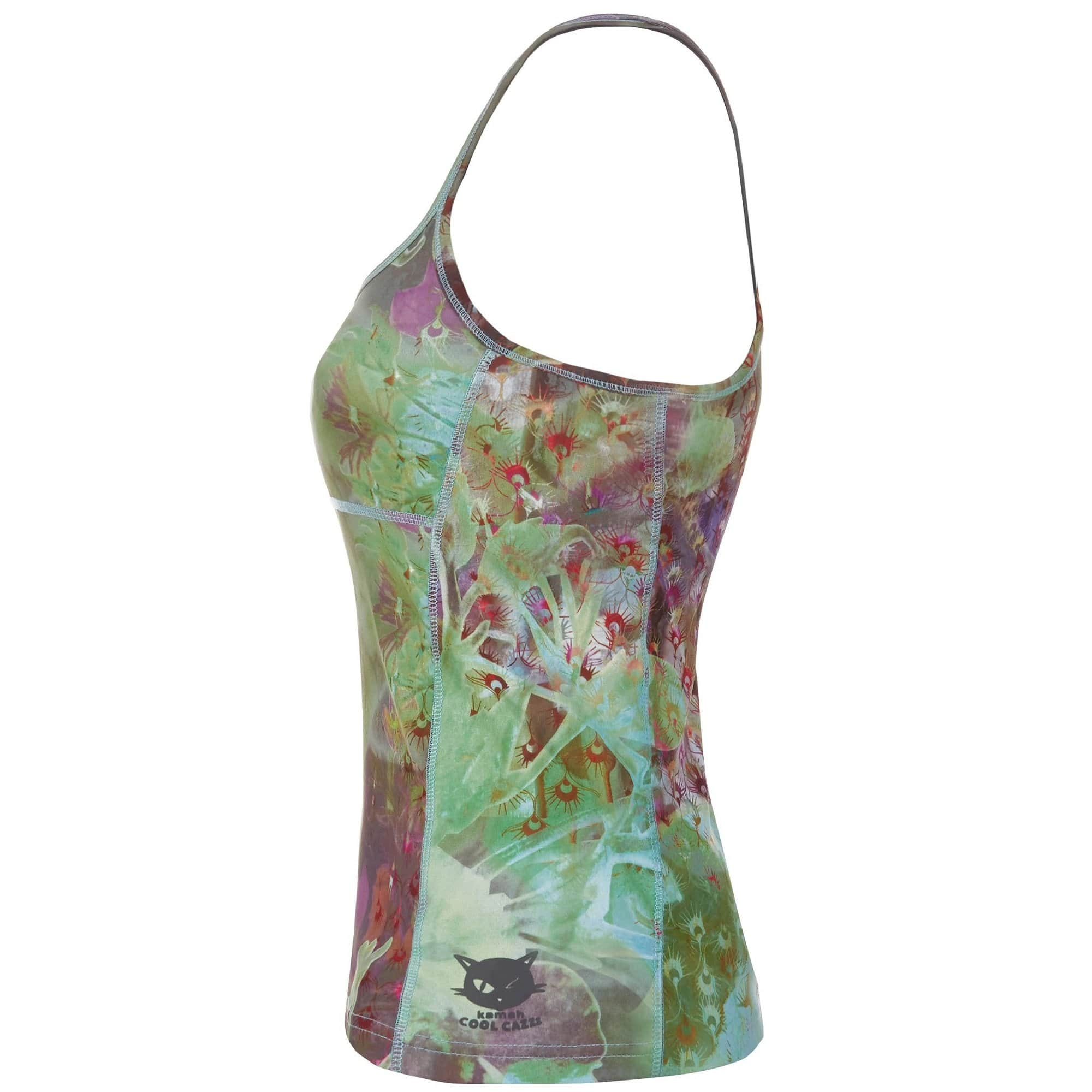 "Yoga-Top ""Svenja"", City Bloom - Superactive Top mit Innen-Bra - Kamah Yoga and Style"