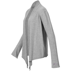 "Jacke ""Tootsie"", greymelange – Supersofte Wickeljacke - Kamah Yoga and Style"