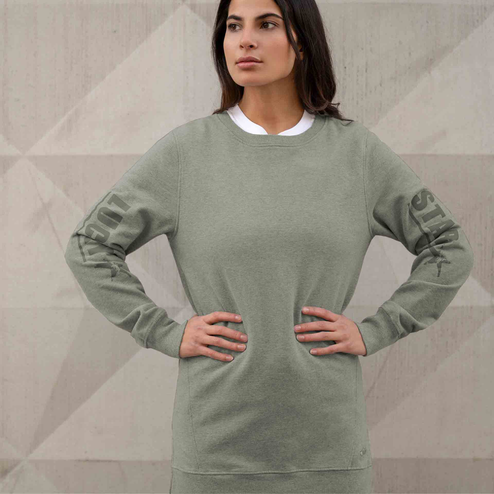 "Sweater ""Tiffany"", reed - Kuscheliges oversized Sweatshirt - Kamah Yoga and Style"