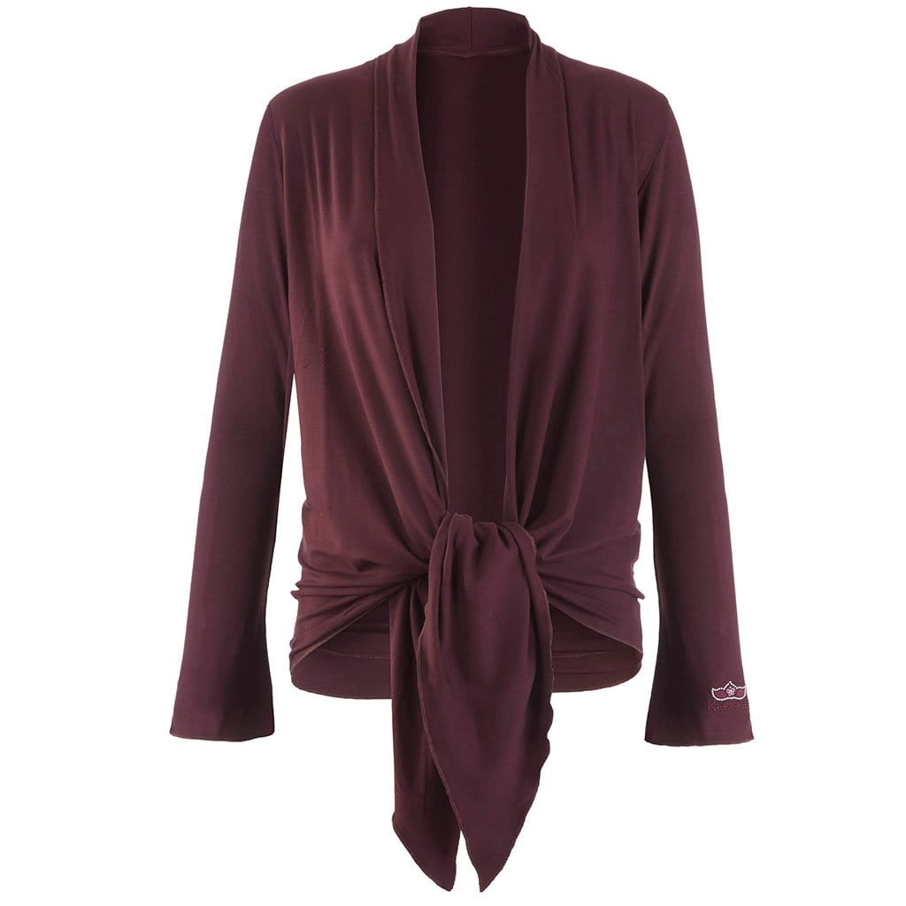 "Jacke ""Tootsie"", port royale – Supersofte Wickeljacke - Kamah Yoga and Style"