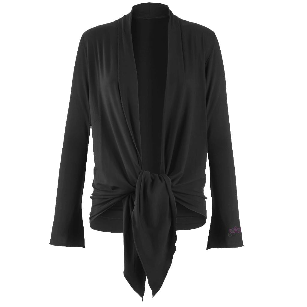 "Jacke ""Tootsie"", charcoal – Supersofte Wickeljacke - Kamah Yoga and Style"