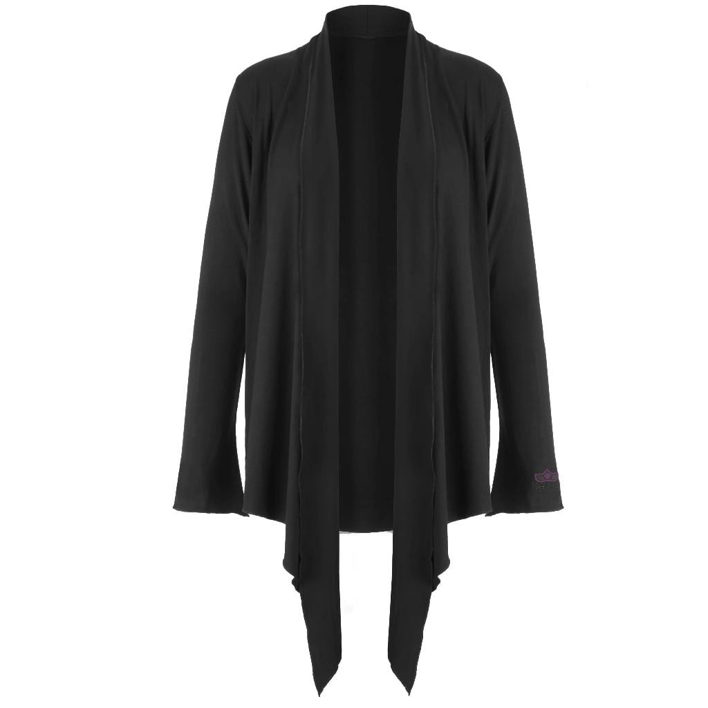 "Supersofte Yoga Wickeljacke ""Tootsie"" in charcoal - Kamah Yoga and Style"