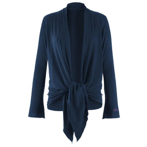 "Jacke ""Tootsie"", nightblue – Supersofte Wickeljacke - Kamah Yoga and Style"