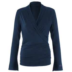 "Wickeljacke Yoga Mode ""Tootsie"", nightblue - Kamah Yoga and Style"