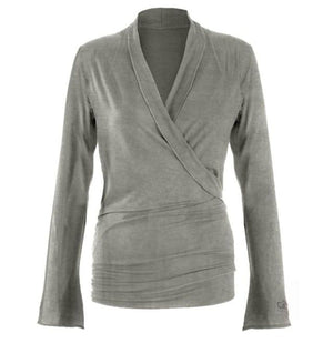 "Jacke ""Tootsie"", reed – Supersofte Wickeljacke - Kamah Yoga and Style"