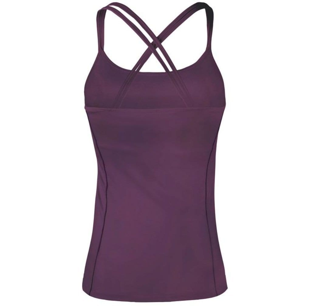 "Yoga-Top ""Tuva"", red purple - Superactive Top mit Innen-Bra - Kamah Yoga and Style"
