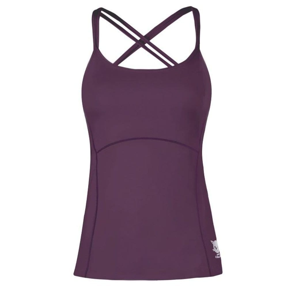 TUVA - Active Top mit Innen-Bra, Farbe: red purple - Kamah Yoga and Style
