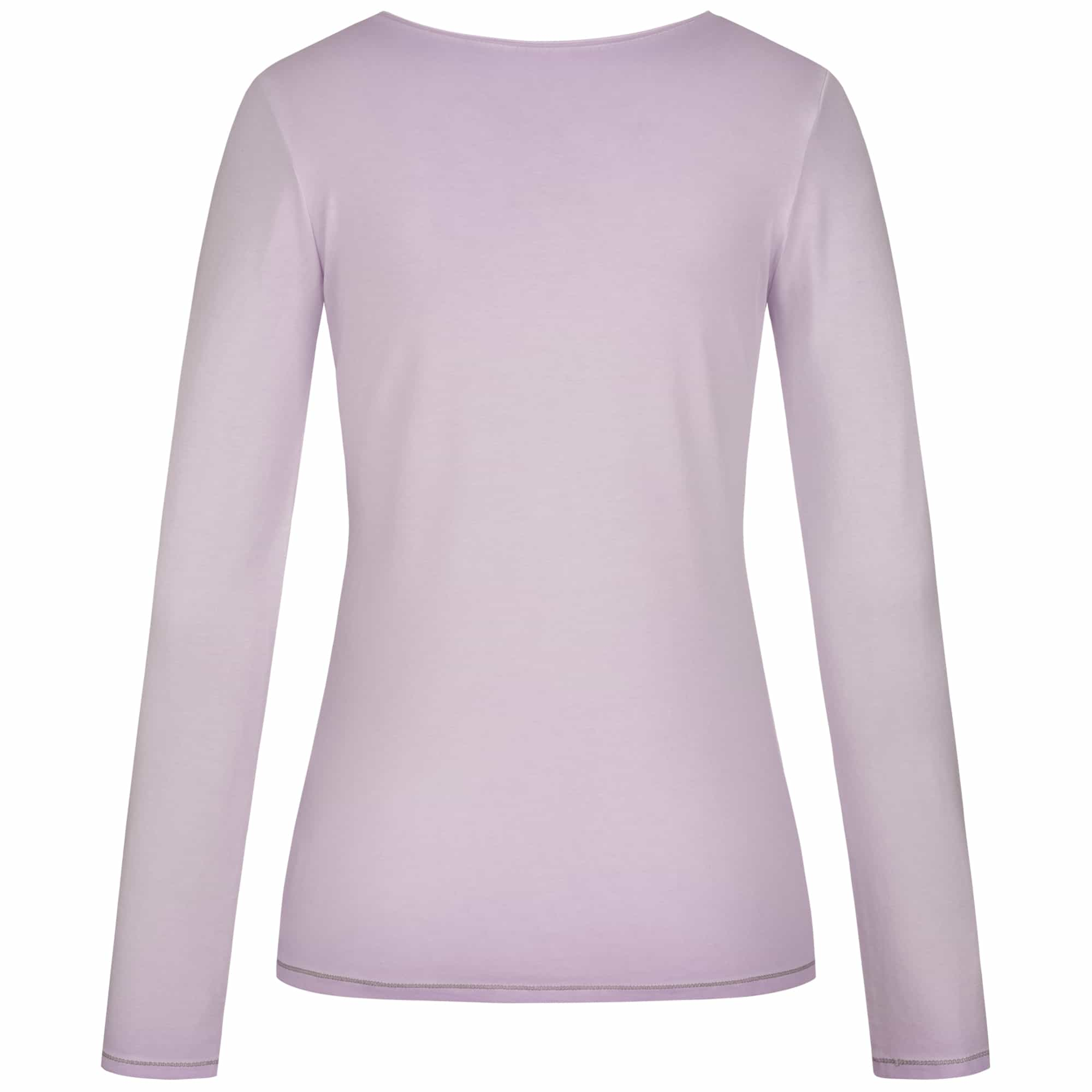 "Yoga-Shirt ""U"", pale violet - Pures superweiches Langarmshirt"