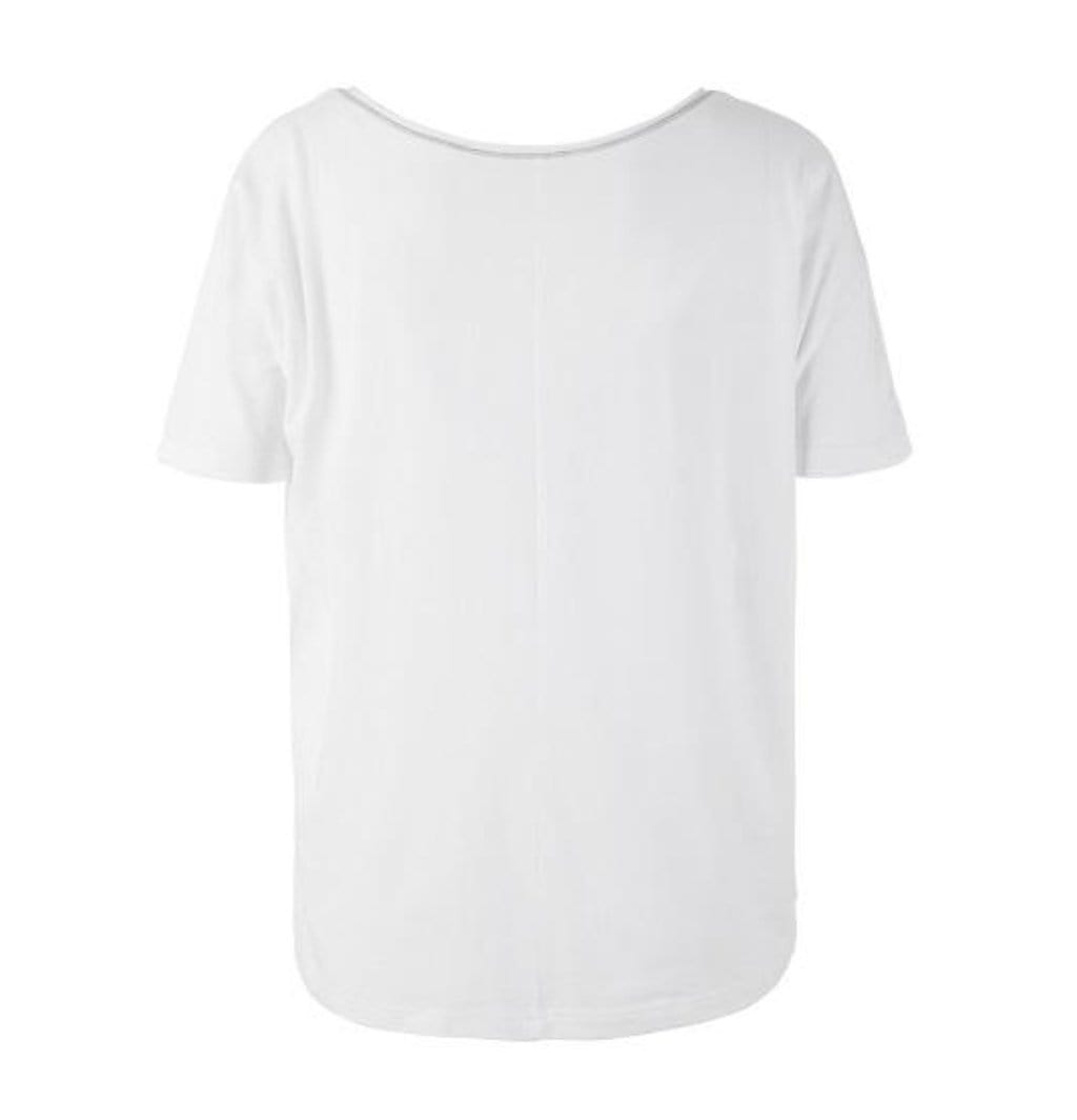 "Yoga-Shirt ""Ulani"", white  Back- Weit geschnittenes Lounge-Shirt - Kamah Yoga and Style"