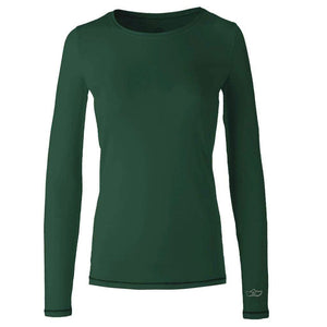 "Yoga-Shirt ""U"", ivy green - Pures superweiches Langarmshirt"
