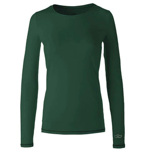 "Yoga shirt ""U"", ivy green - pure, super soft long-sleeved shirt"
