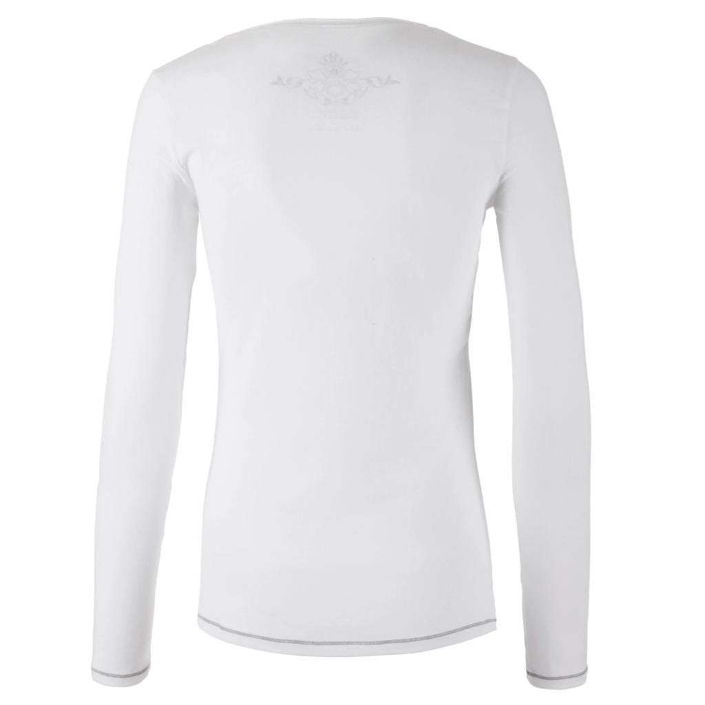 "Yoga-Shirt ""U"", white - Pures superweiches Langarmshirt - Kamah Yoga and Style"