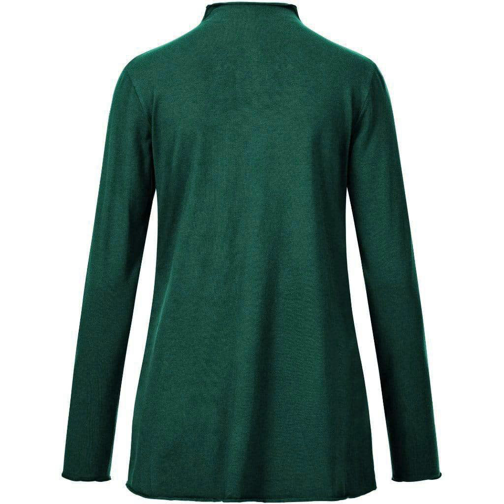 "Extravagant tunic ""VERENA"" in ivy green – Yoga Fashion"