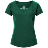 "Yoga-Shirt ""VIOLA"",  ivy green - Supersoftes T-Shirt mit Formnähten"