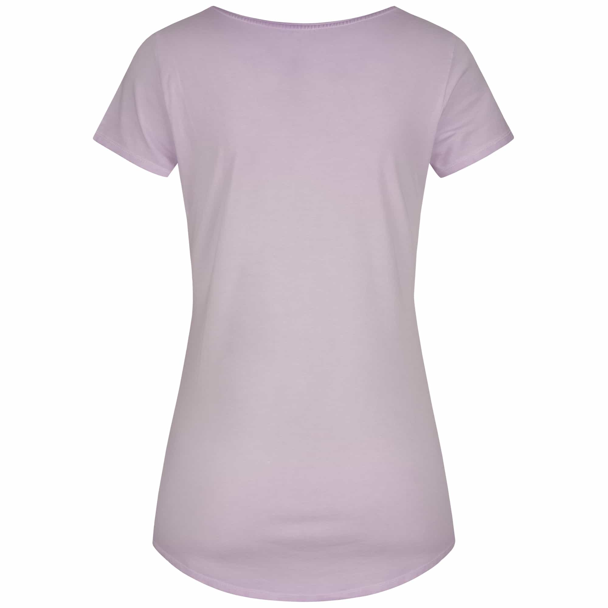 "Yoga shirt ""Waris"", pale violet - soft basic t-shirt with motto print"