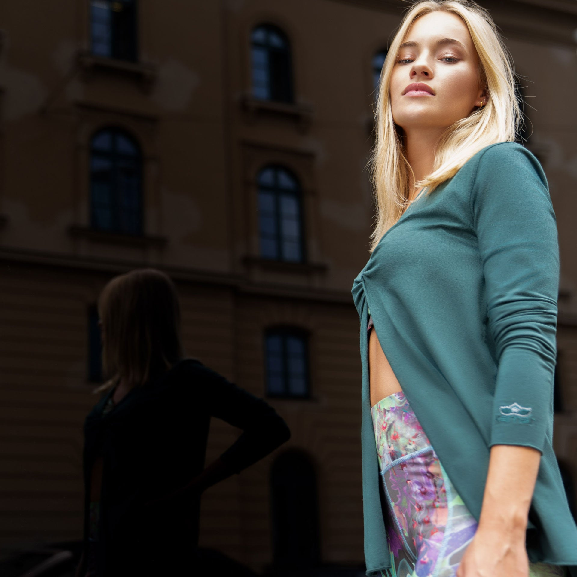 "Extravagante Tunika ""Verena"" in ivy green – Yoga Mode"