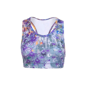 "Yoga-Top ""Pia"", Flowers - Soft Bra mit Allover Print - Kamah Yoga and Style"