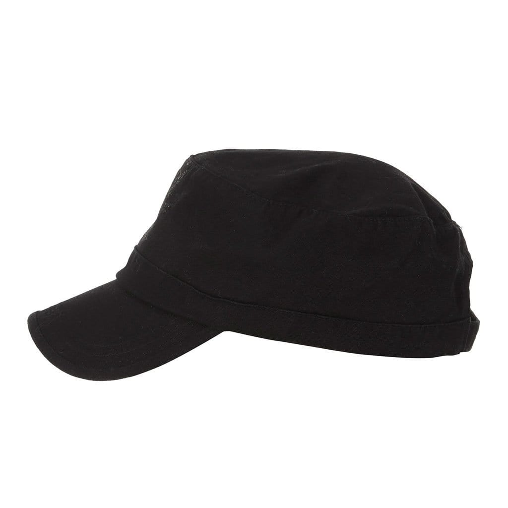 "Cap ""Theo"", black - Military Cap mit Logo - Print - Kamah Yoga and Style"