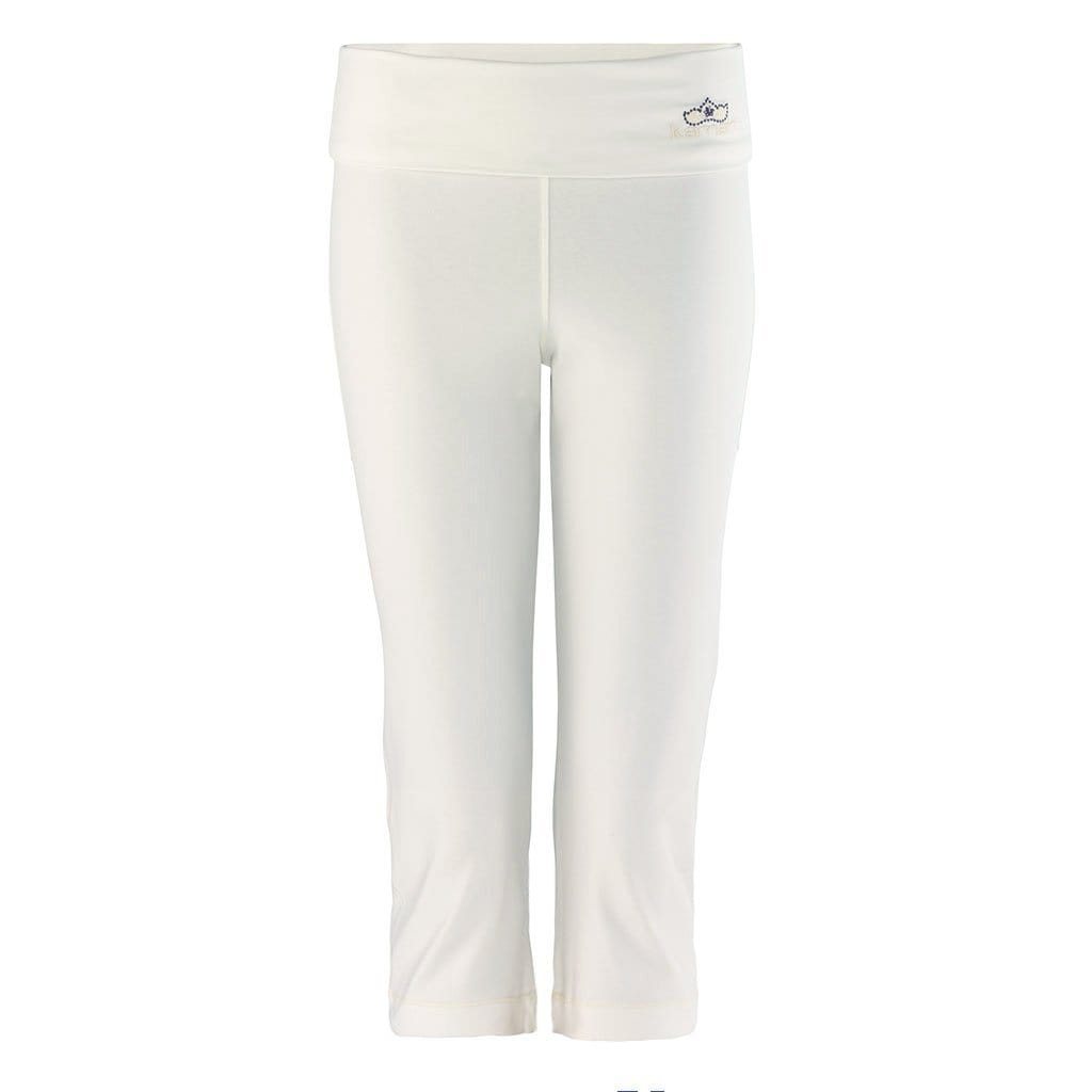 "Yoga-Leggings ""Anastacia"", offwhite - Capri Leggings mit Umschlagbund - Kamah Yoga and Style"